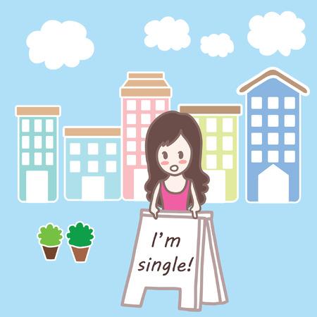 単一の女の子の町漫画