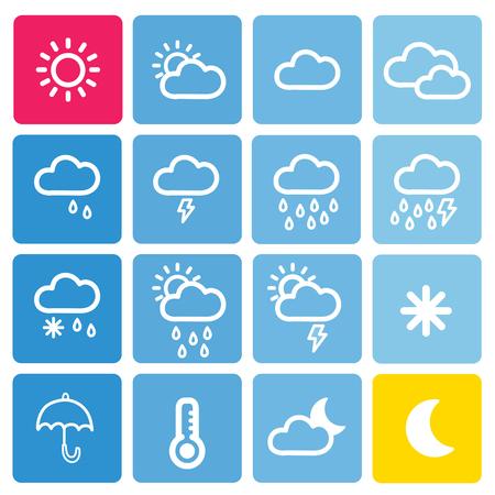 アイコン セットの背景を持つ天気