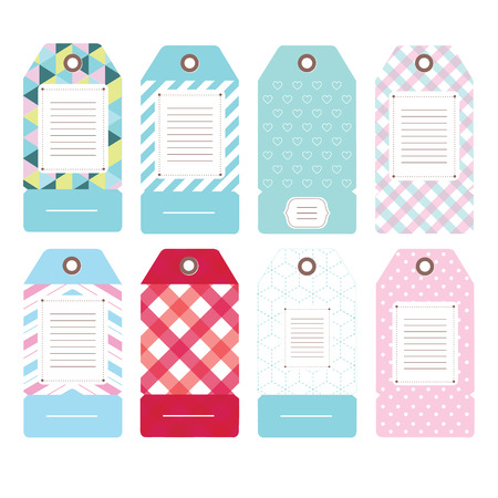 price label and tag with simple pattern Vector