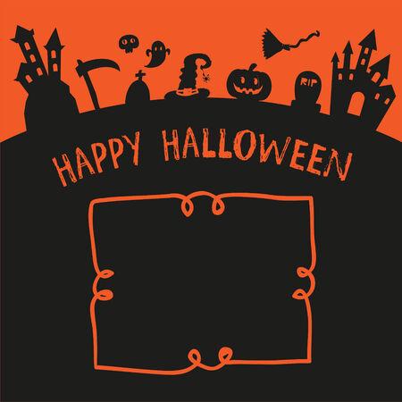 poster happy  halloween design Vector