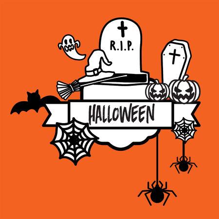 happy halloween: poster happy halloween