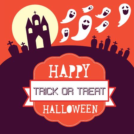 happy halloween: happy halloween card design.