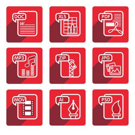 extensible: flat design file type icon