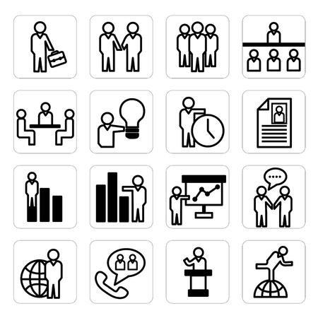 人材育成とビジネスのアイコン  イラスト・ベクター素材