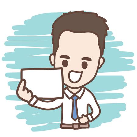 文字のビジネスマンやオフィス ワーカー
