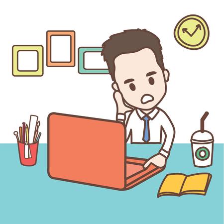 キャラクター ビジネス男とオフィス ワーカー