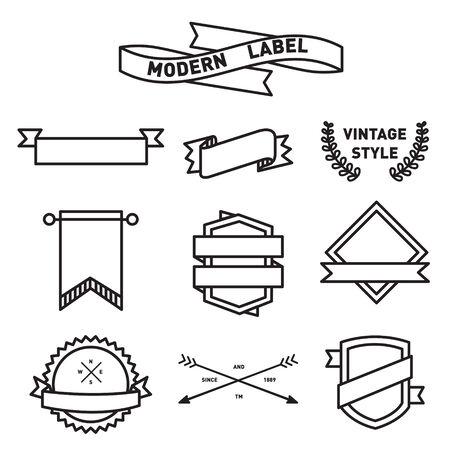 ラベルとアイコンのバッジ デザインのセット