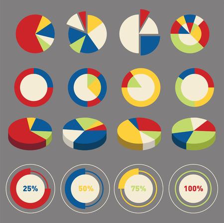 インフォ グラフィックの円グラフの要素をベクトルします。