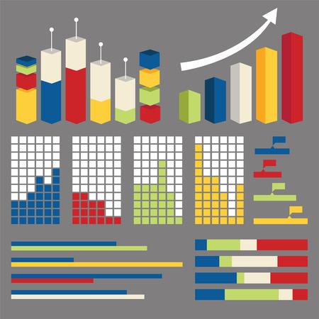 インフォ グラフィックのグラフのグラフの要素をベクトルします。