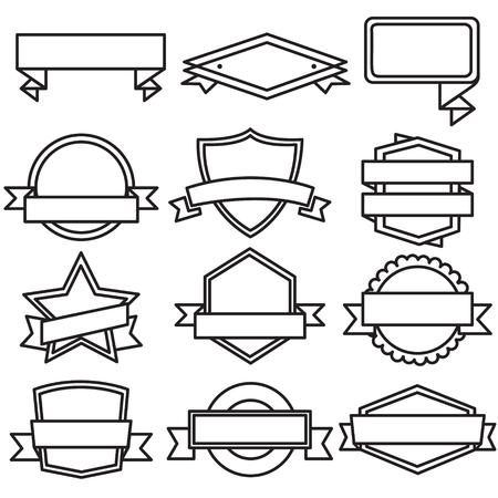 ラベルのバッジ アイコン ベクトル デザイン セット
