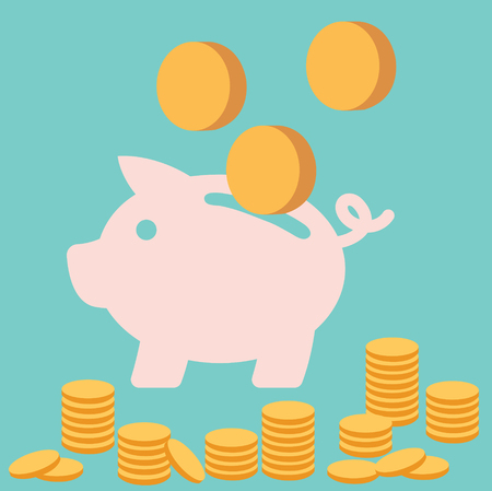 貯金箱のお金の硬貨