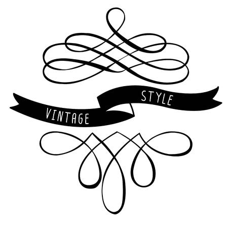 書道のデザイン要素とフレーム。ヴィンテージ ・ コレクション