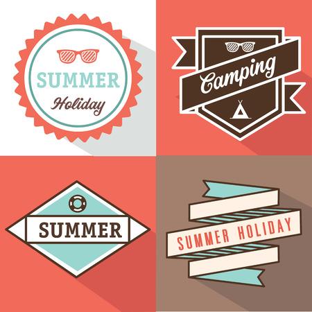 banner label summer design Vector