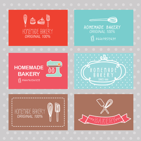 bakery business card stock vector 32393416 - Bakery Business Cards