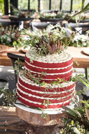 Cake for the wedding celebration.