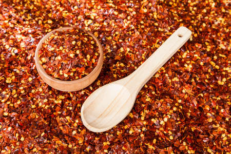 Red pepper or cayenne pepper crushed. Imagens