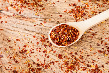 Red pepper or cayenne pepper crushed.