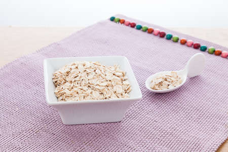 Flaked oatmeal a very healthy cereal.