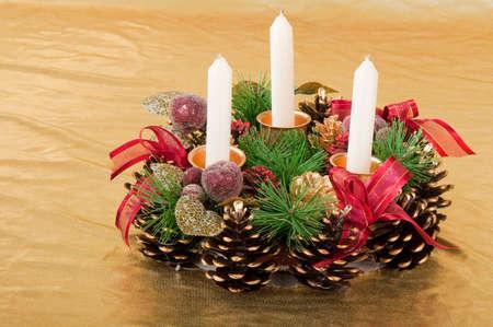 Christmas decoration home. Imagens