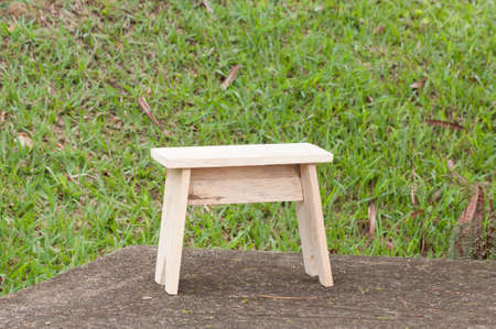 Wooden Chair Made By Hand; Made With Raw Wood. Imagens