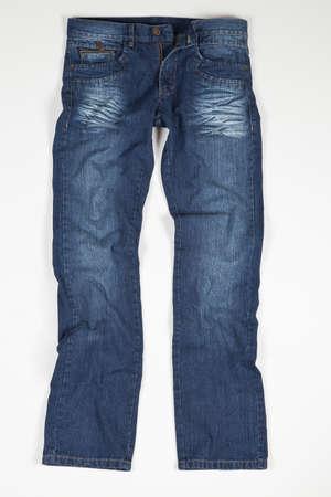 Blue Jean For Man On White Background. Imagens