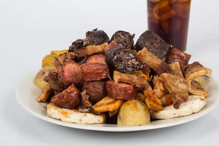 Food; Tasty Minced Meat Of Different Meats.