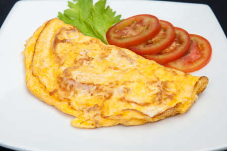 Tasty Omelet Eggs Breakfast.