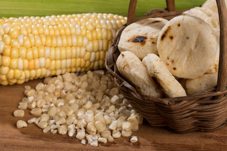 Tasty corn arepas; Typical food of the Antioquia region in Colombia.