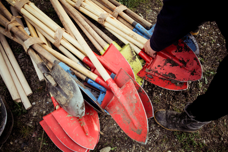 Shovels used for planting trees