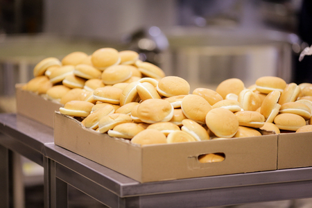 Breads at a cafeteria