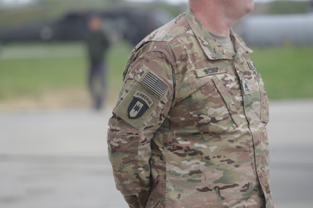 United States Air Force symbol on a US soldier uniform Redakční