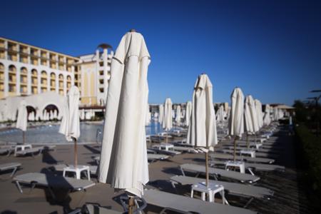 OBZOR, BULGARIA - September 30, 2018: Riu Helios Hotel in Obzor beach resort, Bulgaria Redakční