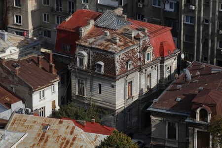 Old building in Bucharest seen from above Reklamní fotografie