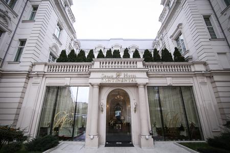 Bucharest, Romania - January 4, 2019: Grand Hotel Continental building in Bucharest
