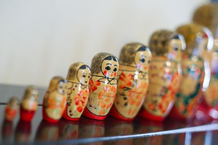 Matrioska traditional russian wooden dolls
