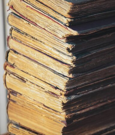 Old papers, books and documents containing historical archives
