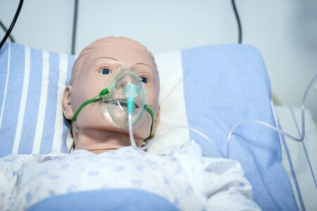 Plastic dummy in the role of a patient used for nurses and medics training