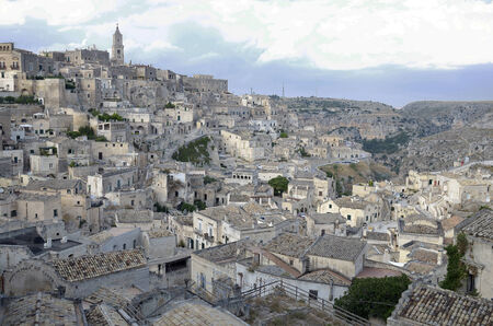 vespers: Sassi of Matera, an ancient town feature.