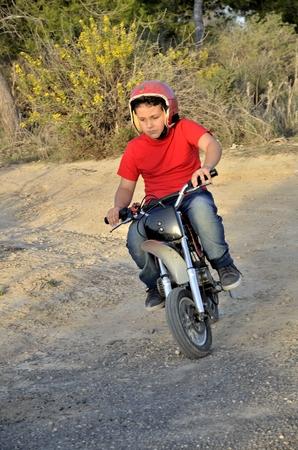 mini bike: Motocross track, the dream of all children.
