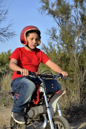 kiddy: Motocross track, the dream of all children.