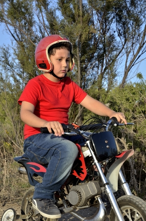 mini bike: Motocross track, the dream of all children.