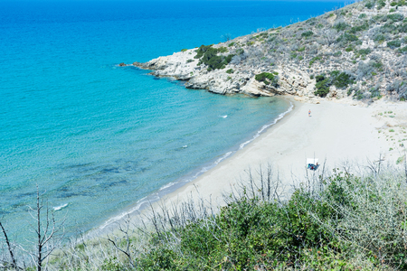Beach deserted isolated. With the calm sea, you can enjoy peace and quiet and you can do as well nudism and naturism.