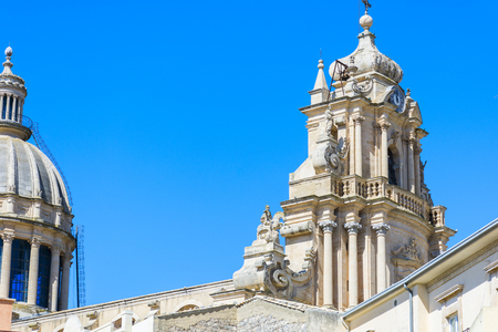 Sicilian Baroque, ancient town Ragusa. The places of Montalbano, Italian TV drama known throughout the world. Stock Photo