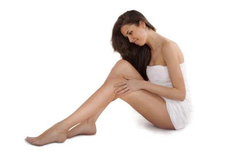 nice legs: pretty adult girl with nice legs