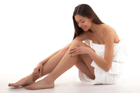 Pretty Adult Girl With Perfect Legs Stock Photo