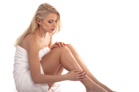 woman s legs Stock Photo
