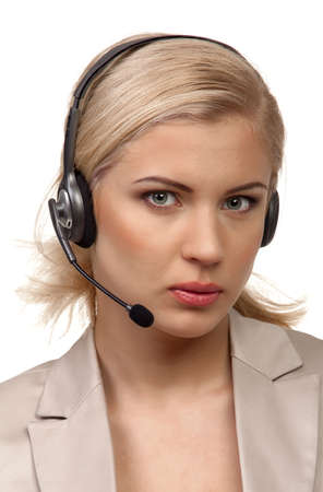 Cute business customer service woman Stock Photo