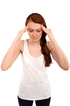 Young Woman have headache