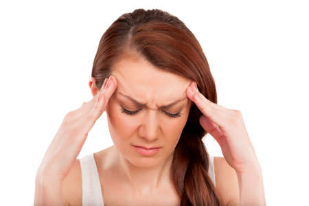Woman have headache Stock Photo