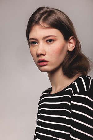 Stylish Young Mixed Race European Woman - Stock Image Stock Photo